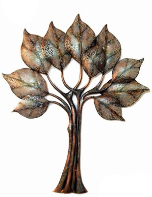 SK CREATIVE ARTS Wall Decor Tree with LED in Iron Showpiece  -  124 cm