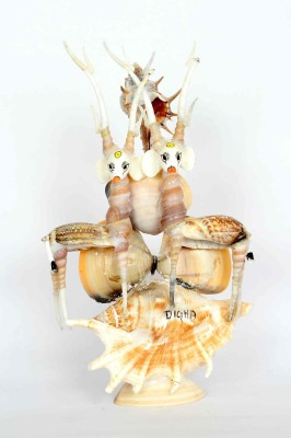 KHUSHI HANDICRAFTS TABLE DECOR SHANKH DEAR Showpiece  -  24 cm