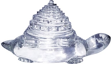 Shaligram Shala Showpiece  -  9 cm(Crystal, White)