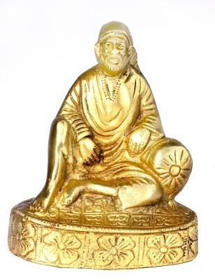 SKM Brass idol Sai Baba Chauki Showpiece  -  11.43 cm