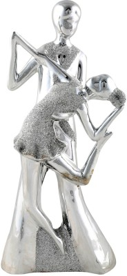 Aica Showpiece  -  33 cm(Ceramic, Silver)