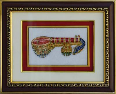 eCraftIndia Marble Painting of Vichitra Veena Showpiece  -  22.86 cm(Stoneware, Multicolor)