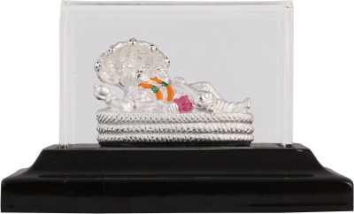 Siri Creations 999 pure silver Anantha Padma naba with acralyic base Showpiece  -  5.5 cm