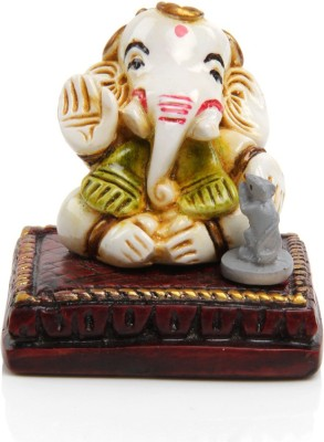 Adaa Lord Ganesha with Mouse Showpiece  -  5.5 cm