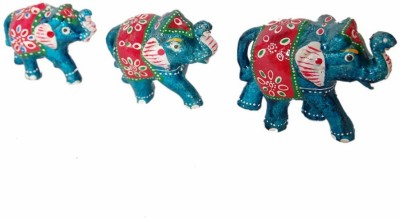 Gulshan Arts Crafts Elephant set Showpiece  -  5 cm
