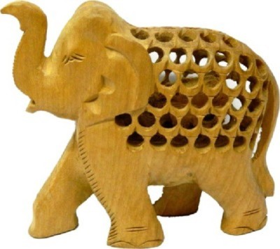 HanumantCreations Wooden Handicraft Jali Elephant Showpiece Showpiece  -  10 cm