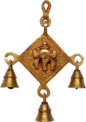 Aakrati Showpiece - 20 cm(Brass, Yellow)