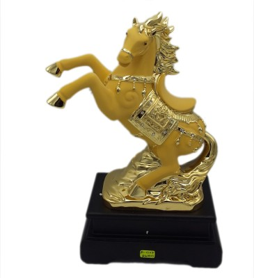 Aica Showpiece  -  12 cm(Ceramic, Gold)