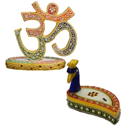 eCraftIndia Combo of Om Show Piece and Marble Chopra Showpiece  -  13.97 cm