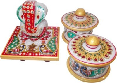 Gaura Art & Crafts Showpiece  -  8 cm(Stoneware, Multicolor)