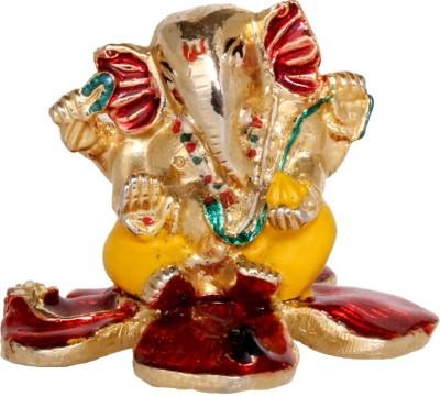 Abhijewels Multicolor Sitting Ganesha Idol Showpiece  -  10 cm