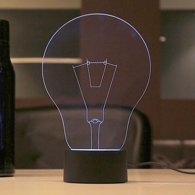 Lab No. 4 Lightbulb LED Showpiece  -  20.1 cm