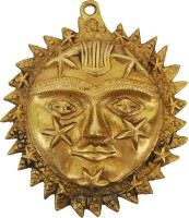 Aakrati Sun Face With Stars Showpiece  -  15 cm(Brass, Gold)