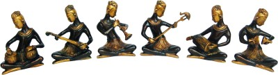 Aakrati Brassware Musician Set of 4 unique for gift Showpiece  -  17 cm(Brass, Brown)