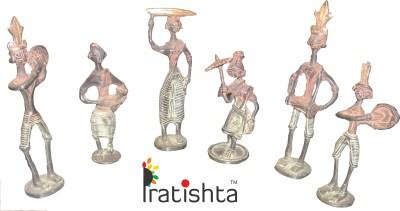 PRATISTHA Showpiece  -  21 cm(Brass, Multicolor)