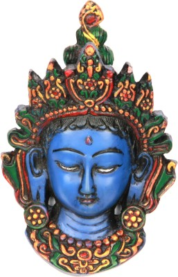 Adaa Half Eye Closed Goddess Durga (Blue) Showpiece  -  13 cm