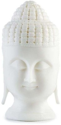 Radhey Marble White Buddha Head inch 3 Showpiece  -  7 cm