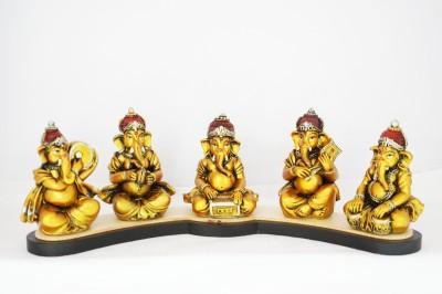 Moksha Music troupe ganesh Showpiece  -  11 cm