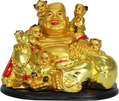 Pure Life Baby Desire Laughing Budha Showpiece  -  7 cm