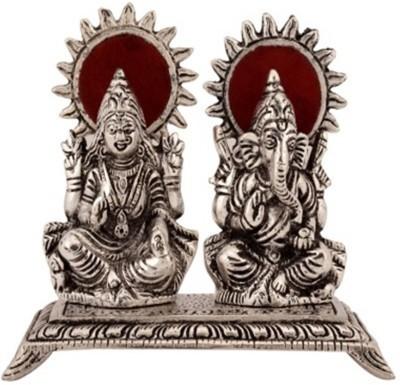 EtsiBitsi Etsibitsi White Metal Laxmi Ganesha Showpiece Showpiece  -  15 cm