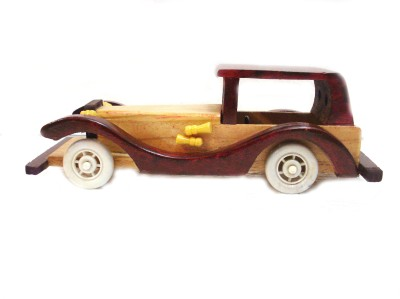 Fusion Gallery Wooden Car Showpiece  -  9 cm