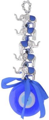 JPS Retail Glass Feng Shui 5 Elephants Evil Eye Wall And Car Hanging Showpiece  -  19 cm