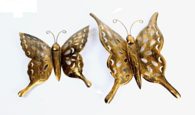 Traje Wall hanging Iron Butterfly Showpiece  -  39 cm