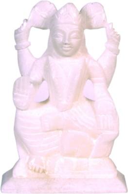 Avinash Handicrafts White alabaster Laxmi Showpiece  -  12 cm