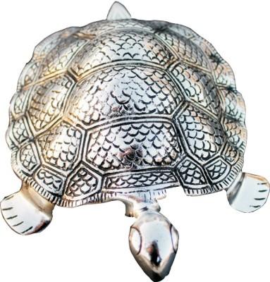 SAF Tortoise Showpiece  -  15 cm(Aluminium, Silver)