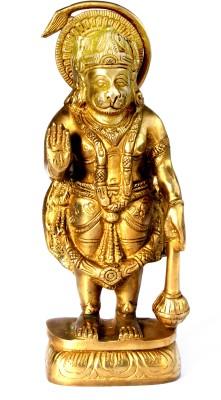 SKM Brass idol Hanuman ji Plain Showpiece  -  21 cm