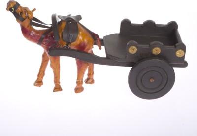 Smile2u Retailers Camel Cart Showpiece  -  15 cm
