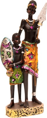 Oyedeal African Tribal Father and Son GFT391 Showpiece  -  21 cm