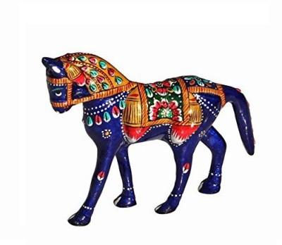 MARIYAM Meenakari work Horse Showpiece  -  10 cm