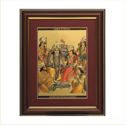 Aarya 24kt Mramparivaar Gold Plated Frame Showpiece  -  12 cm