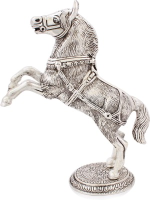 Snowfinch Crafted Alloy Horse Showpiece  -  27 cm