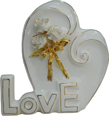 GiftsGannet Antique Ceramic Love Decorative Showpiece  -  21 cm
