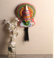 Itiha Kathakali Face Mask Wall hanging Showpiece  -  27 cm(Paper Mache, Multicolor)