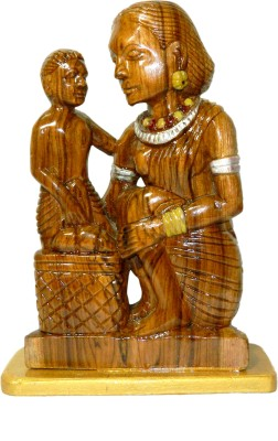 MadeInIndiaGallery Showpiece  -  25 cm(Wooden, Brown)