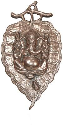 HD Crafts Lord Ganesha On A Peepal Leaf Showpiece  -  42 cm
