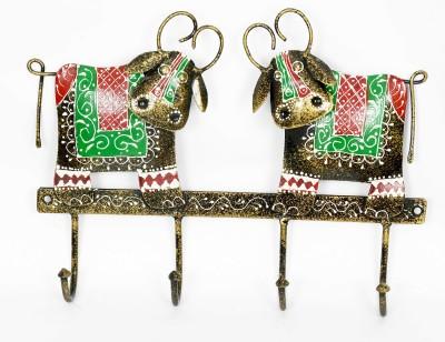 KHUSHI HANDICRAFTS IRON COW KEY HOLDER Showpiece  -  28 cm