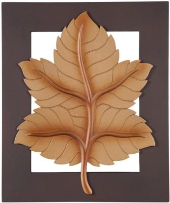 Artesia Wood Carving Mapple Leaf Wall Art Showpiece  -  30.48 cm