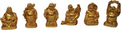 Eklavya Laughing Buddha Set Showpiece  -  4 cm