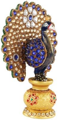 Authentic India Auth India- Wooden Nagina Peacock Showpiece  -  15.24 cm