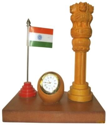 ByCue Ashoka Table Décor Showpiece  -  15 cm(Wooden, Brown)