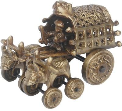 Aakrati Bull Cart Handicraft Art WareMetal Statue Showpiece - 10 cm