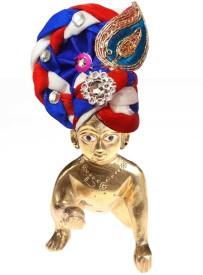 CraftEra Showpiece - 5 cm(Brass, Cotton, Multicolor)