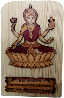 Divine Temples Maa Lakshmi - 13 cm Height Showpiece  -  13 cm(Wooden, Multicolor)