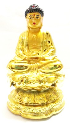 True Deal Lord Buddha Golden Statue Showpiece  -  11.5 cm