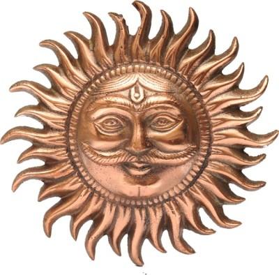 Advitiya Black Metal Surya Bhagavan Idol Showpiece  -  16 cm