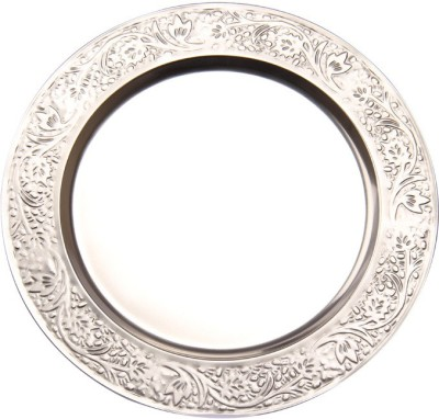Sutra Decor Metal Plater Showpiece  -  25 cm(Glass, Silver)